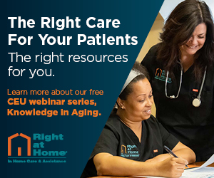 Right at Home - Learn more about our free CEU webinar series, Knowledge in Aging