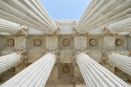 Looking up the columns at the us supreme court
