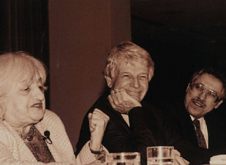 Betty Friedan, Robert Butler and Fernando Torres-Gil at the 1995 ASA conference.