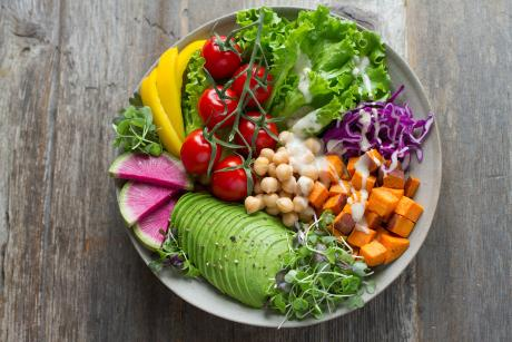 Colorful salad plate